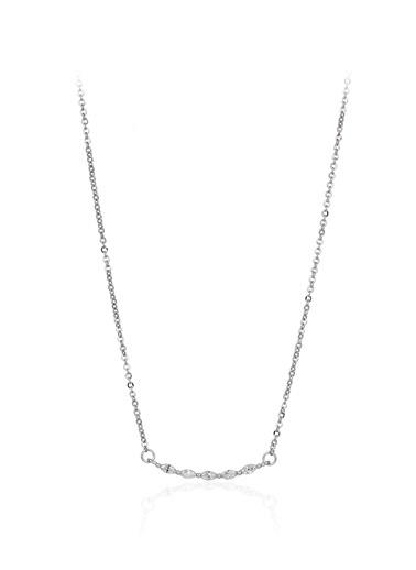 0,25 Ct Pırlanta Efekt Altın Markiz  Kolye-Tophills Diamond Co.